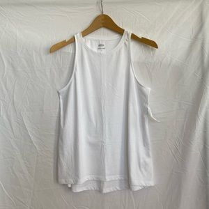 Old Navy White Relaxed High Neck Tank Top